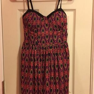 American Rag Patterned Dress with pockets